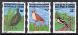 CAMEROUN - 1982 BIRDS SET (3V) FINE MNH ** SG 941-943 - Cameroon (1960-...)