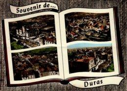 47-SOUVENIR DE....DURAS...4 VUES...CPSM GRAND FORMAT - Francia