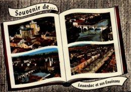 47-SOUVENIR DE....LAVARDAC ET SES ENVIRONS ...4 VUES...CPSM GRAND FORMAT - Lavardac