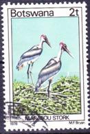 Botswana - Marabu (Leptoptilos Crumeniferus) (MiNr 199) 1978 - Gest Used Obl - Botswana (1966-...)
