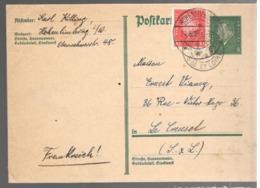 23650 - Entier  Pour La France - Deutschland