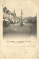VILLEDIEU Les POELES  Colonne Place Du Marché RV Beau Timbre 10C Cachets - Villedieu