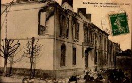 51-AY..LES EMEUTES EN CHAMPAGNE 1911...LE BD.DU NORD....CPA ANIMEE - Ay En Champagne