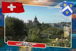 Postcard, REPRODUCTION, Municipalities Of Switzerland, Chigny - Landkaarten