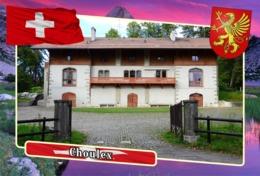 Postcard, REPRODUCTION, Municipalities Of Switzerland, Choulex - Landkaarten