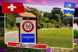 Postcard, REPRODUCTION, Municipalities Of Switzerland, Clarmont - Landkaarten