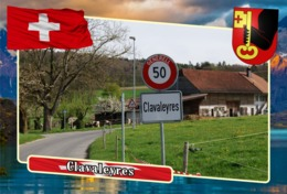 Postcard, REPRODUCTION, Municipalities Of Switzerland, Clavaleyres - Landkaarten