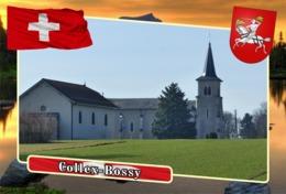 Postcard, REPRODUCTION, Municipalities Of Switzerland, Collex-Bossy - Landkaarten