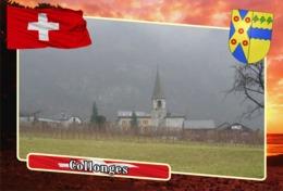 Postcard, REPRODUCTION, Municipalities Of Switzerland, Collonges - Landkaarten