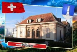 Postcard, REPRODUCTION, Municipalities Of Switzerland, Cologny - Landkaarten