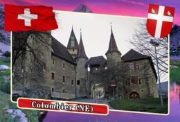 Postcard, REPRODUCTION, Municipalities Of Switzerland, Colombier (NE) - Landkaarten