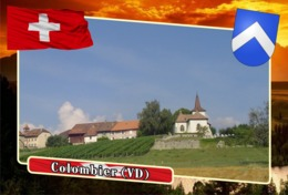 Postcard, REPRODUCTION, Municipalities Of Switzerland, Colombier (VD) - Landkaarten