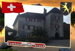 Postcard, REPRODUCTION, Municipalities Of Switzerland, Combremont-le-Grand - Landkaarten