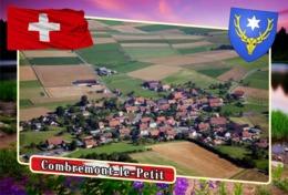 Postcard, REPRODUCTION, Municipalities Of Switzerland, Combremont-le-Petit - Landkaarten