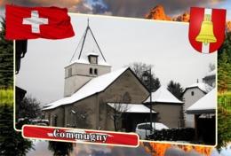 Postcard, REPRODUCTION, Municipalities Of Switzerland, Commugny - Landkaarten