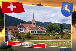 Postcard, REPRODUCTION, Municipalities Of Switzerland, Concise - Landkarten