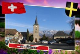 Postcard, REPRODUCTION, Municipalities Of Switzerland, Confignon - Landkaarten