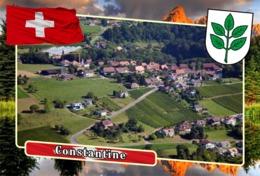 Postcard, REPRODUCTION, Municipalities Of Switzerland, Constantine - Landkaarten