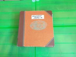 Lot N° TH. 1042 MONACO Collection Quasie Complete Dans Un Album Neufs * - Sammlungen (im Alben)