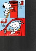 CM 1ER JOUR PORTUGAL 2000 - SNOOPY FACTEUR  - - Comics
