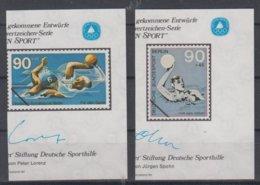 GERMANY BERLIN 1980 WATER POLO 2 S/SHEETS ESSAY - Wasserball