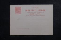 CUBA - Entier Postal + Réponse Non Circulé - L 44432 - Cuba (1874-1898)
