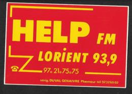 Radio Help Lorient  - Sticker Adhésif Autocollant - Autocollants