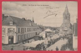 Pecq- La Place Un Jour De Kermesse - Belle Animation, Jeux De Boules - 1910 ( Voir Verso ) - Pecq