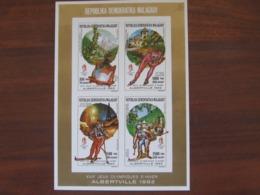 Madagascar 1992 MNH 1257.60 KLB Imperf - Inverno1992: Albertville