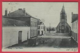 Pecq - La Place - Jolie Carte Toilée, Oblitérée En 1906 ( Voir Verso ) - Pecq