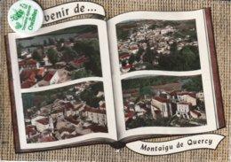 82 - Très Belle Carte Postale Semi Moderne Dentelée De   SOVENIR DE MONTAIGU DE QUERCY   Multi Vues - Montaigu De Quercy
