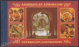 Azerbaidjan - Azerbaijan - Azerbaycan 2005 Yvert C525, Europa Cept, Gastronomy  - Booklet - MNH - Aserbaidschan