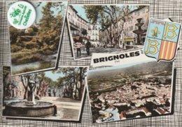 83 - Très Belle Carte Postale Semi Moderne Dentelée De   BRIGNOLES  Multi Vues - Brignoles