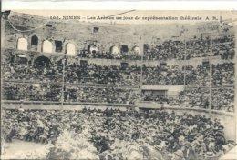 2019 -GARD - 30 - NIMES - Les Arènes Un Jour De Représentation Théâtrale - Nîmes