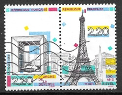 FRANCE 2579 2580 Arche De La Défense Tour Eiffel . - Oblitérés