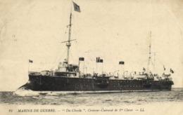 """MARINE DE GUERRE  """"Du Chayla """" Croiseur Cuirassé De 1re Classe RV Beau Cachet Regiment D'Artillerie à Pied - Warships"""