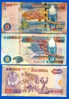 Zambie  3  Billets - Zambia
