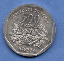Tchad   -  500 Francs 1985  ESSAI -  état  SPL - Chad