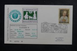 AUTRICHE - Enveloppe Par Ballon En 1971, Cachet Et Affranchissement Plaisant - L 44479 - Ballonpost