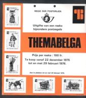 AANPLAKKAART REGIE DER POSTERIJEN - THEMABELGA - 1975 -'76 (AK 11) - Documents Of Postal Services