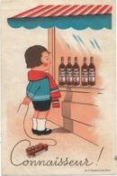 ALGERIE - ORAN  -  CONNAISSEUR! - Enfant Jouet Camion Tonneaux Devant Bouteilles Sénéclauze-verso : Publicité - Oran