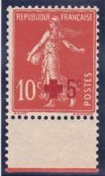 Semeuse Camée YT 146a Croix Rouge BDF N** MNH - 1906-38 Sower - Cameo