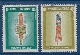 """Nle-Caledonie YT 592 & 593 """" Monnaies Canaques """" 1990 Oblitéré - Nieuw-Caledonië"""