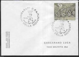 ANNULLO SPECIALE - 1978 - BARI C.P. - 07.06.1976 - GIOCHI DELLA GIOVENTU' SU BUSTA VIAGGIATA - 1971-80: Storia Postale