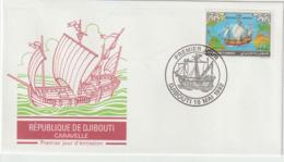 Djibouti.1992   .FDC .Christophe Colomb. Columbus. Caravelle - Cristoforo Colombo
