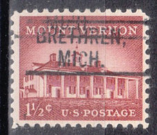 USA Precancel Vorausentwertung Preo, Locals Michigan, Brethren 802 - Vorausentwertungen