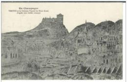 Cpa 51 Vertus , Ww1 , Château Féodal Du Mont Aimé , Voyagée 1918 - Vertus