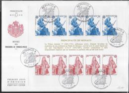 MONACO - FOGLIETTO EUROPA-CEPT SU BUSTONE F.D.C. - 23.05.1985 (YVERT BF 30 - MICHEL BL 28) - Europa-CEPT