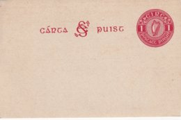 EIRE  ENTIER POSTAL/GANZSACHE/POSTAL STATIONERY CARTE - Entiers Postaux