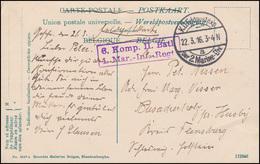 Marinefeldpost BS 1. Marine-Infanterie-Regiment 22.3.1916, AK Blankenberghe Pier - Ohne Zuordnung